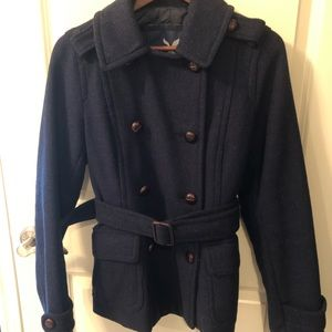 American Eagle Navy Wool Pea Coat